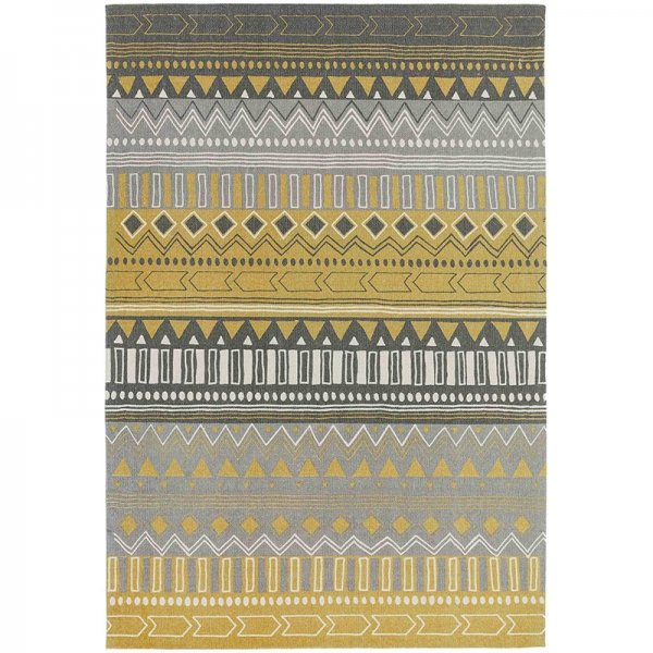 Vloerkleed Onix - Tribal Mix Yellow - Geel - 120 x 170