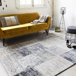 Vloerkleed Patchwork - Donker Grijs - 80 x 150