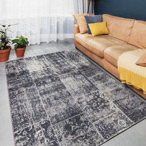 Vloerkleed Patchwork - Grijs - 80 x 150