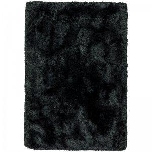 Vloerkleed Plush - Black - Zwart - 160 x 230