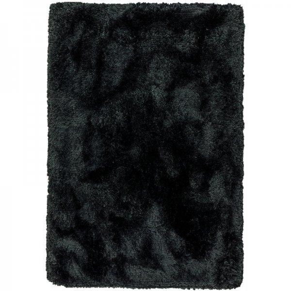 Vloerkleed Plush - Black - Zwart - 70 x 140