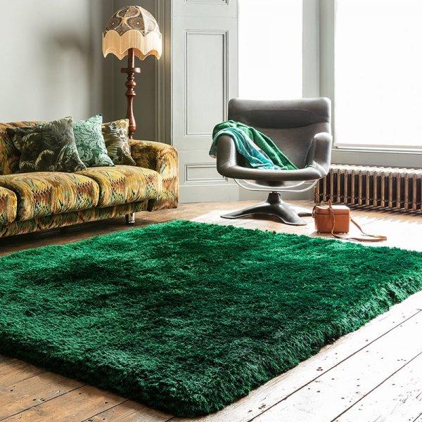 Vloerkleed Plush - Emerald - Groen - 120 x 170