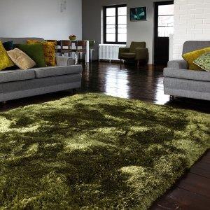 Vloerkleed Plush - Groen - 120 x 170