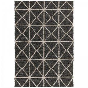 Vloerkleed Prism Rug - Silver - Zwart - 160 x 230