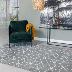 Vloerkleed Sandwick - Antraciet - 200 x 300