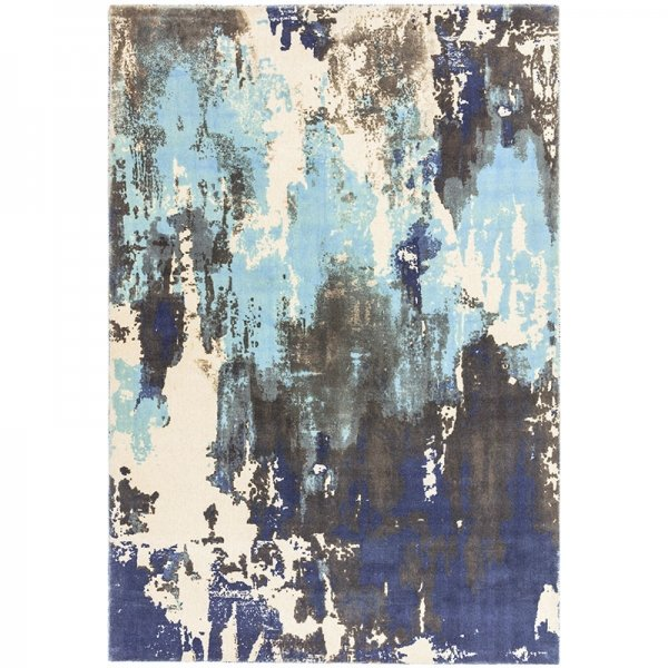 Vloerkleed Saturn - Blue - Blauw - 160 x 230