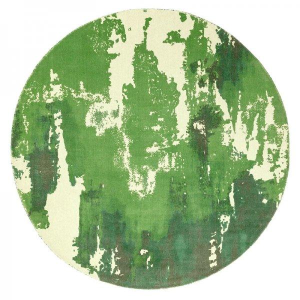 Vloerkleed Saturn - Green - Rond - Groen