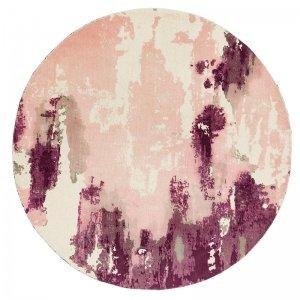 Vloerkleed Saturn - Pink - Rond - Roze