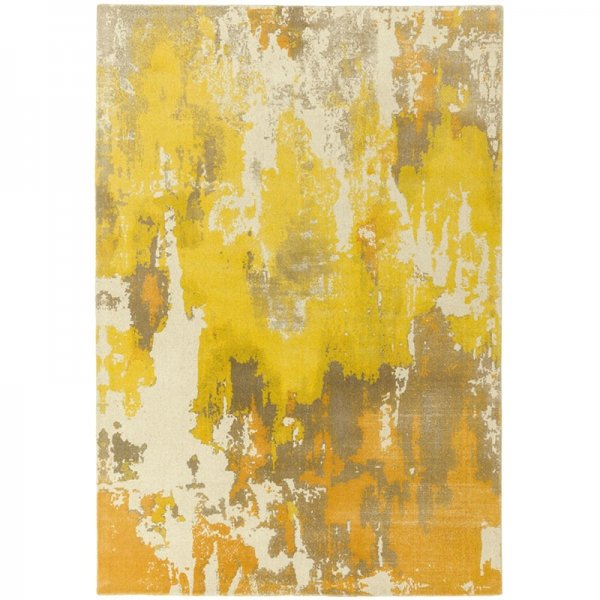 Vloerkleed Saturn - Yellow - Geel - 120 x 170