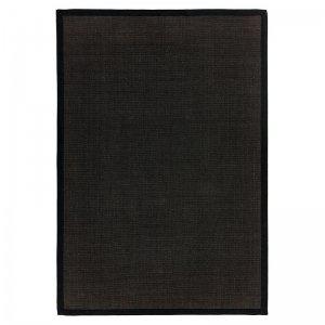Vloerkleed Sisal - Black/Black - Zwart