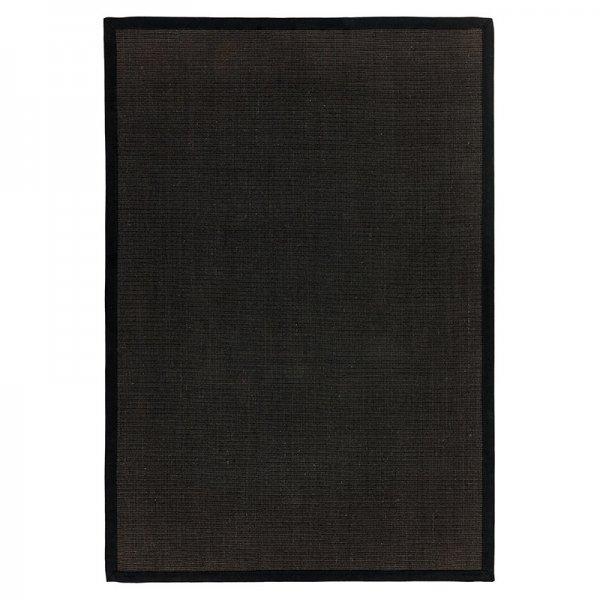 Vloerkleed Sisal - Black/Black - Zwart - 120 x 180