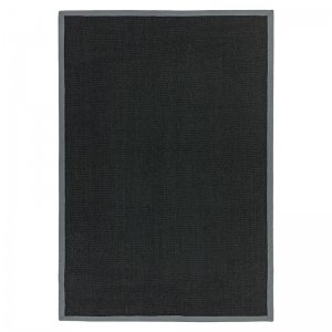 Vloerkleed Sisal - Black/Grey - Grijs - 240 x 340