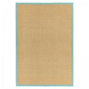 Vloerkleed Sisal - Linen/ Aqua - Blauw - 120 x 180