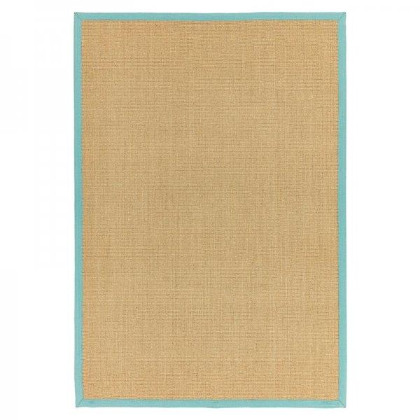 Vloerkleed Sisal - Linen/ Aqua - Blauw - 160 x 230