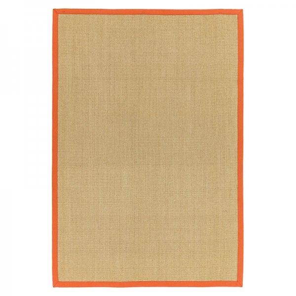 Vloerkleed Sisal - Linen/Orange - 120 x 180