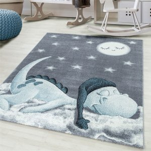 Vloerkleed - Sleepy Dino - Blauw - 160 x 230