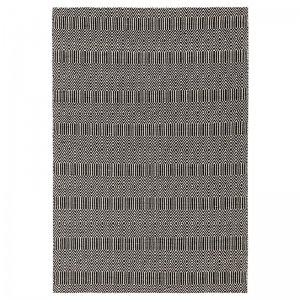 Vloerkleed Sloan - Zwart - 160 x 230