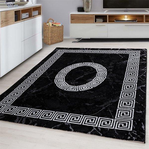 Vloerkleed Spiral - Zwart - 160 x 230