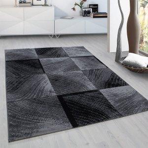 Vloerkleed Square - Zwart - 160 x 230