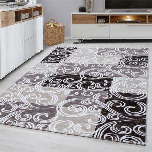 Vloerkleed Swirl - Bruin - 80 x 150