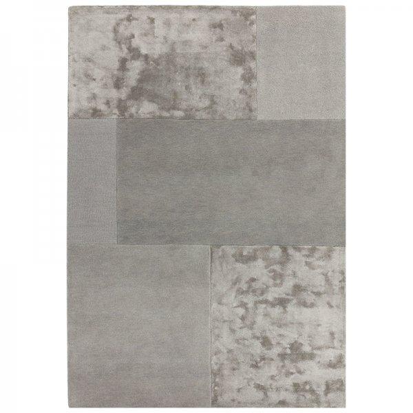 Vloerkleed Tate Tonal Textures - Silver - Zilver - 160 x 230