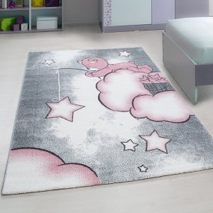 Vloerkleed Teddybeer - Roze - 80 x 150
