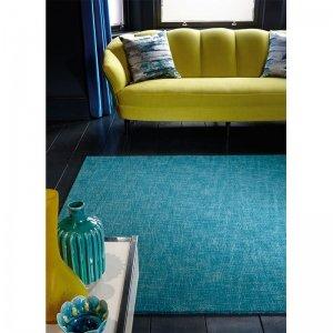 Vloerkleed Tweed - Teal - Blauw - 170 x 240