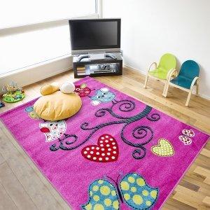 Vloerkleed - Uiltjes - Roze - 160 x 230