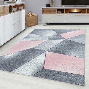 Vloerkleed Vetro - Roze - Grijs - 80 x 150