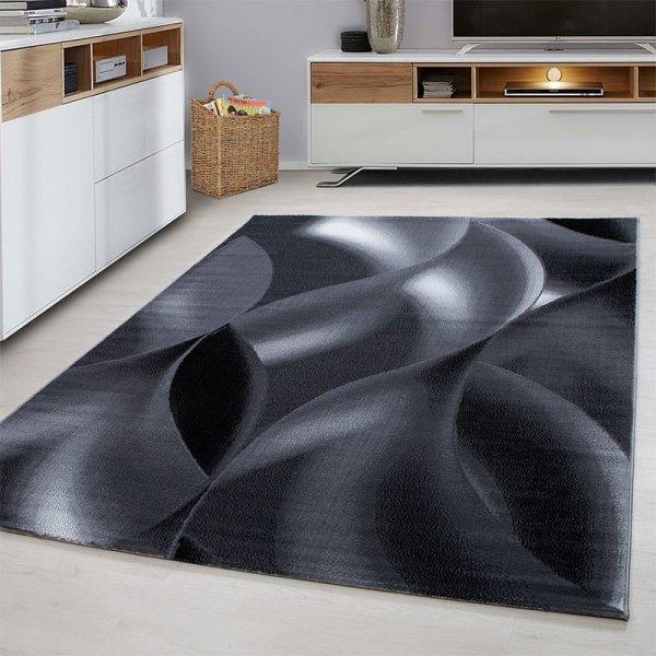 Vloerkleed Wavey - Zwart - 160 x 230