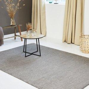 Vloerkleed Woolly - Grijs - 200 x 300