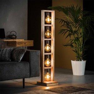 Vloerlamp Appleton - 5 Lichts - Bruin