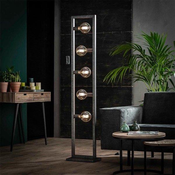 Vloerlamp Birk - 5 Lichts - Grijs