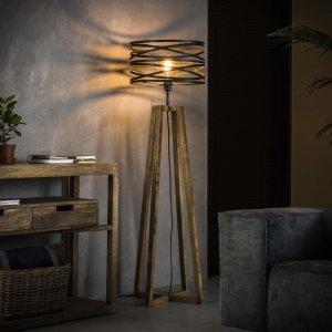 Vloerlamp Drena - Bruin