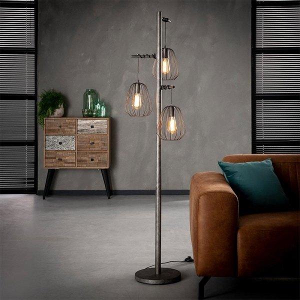 Vloerlamp Finley - Grijs