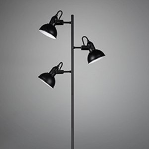 Vloerlamp Gina - Metaal - Zwart Mat
