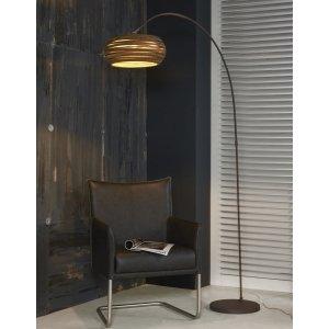 Vloerlamp Pavia - Bruin - Zilver