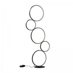 Vloerlamp Rondo - Metaal - Zwart Mat