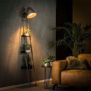 Vloerlamp Sala - met Wandschap - Antraciet