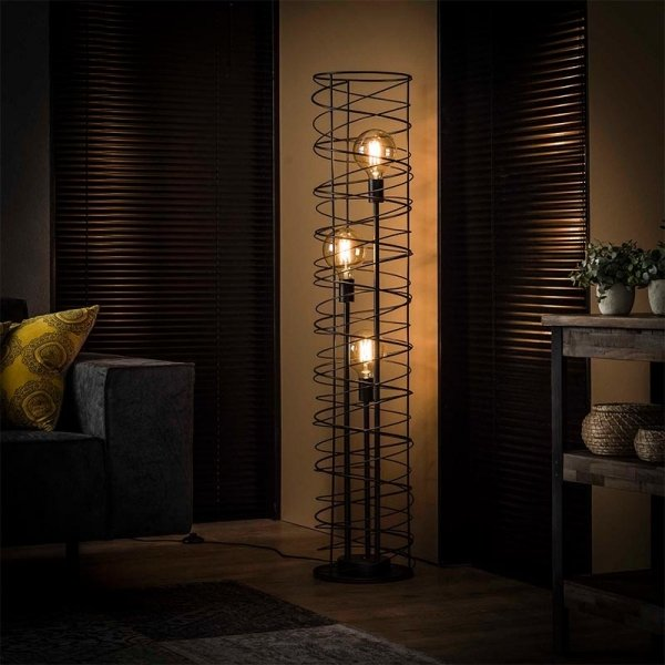 Vloerlamp Solveij - 3 Lichts - Antraciet