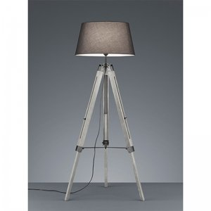 Vloerlamp Tripod - Hout - Grijs
