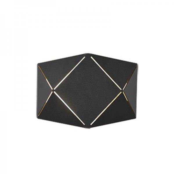 Wandlamp Zandor - Zwart
