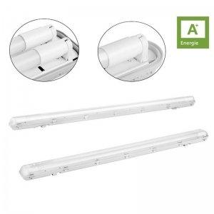 Zuinige en Waterdichte Enkele of Dubbele LED balk incl. LED TL buizen (120 cm) - Wit