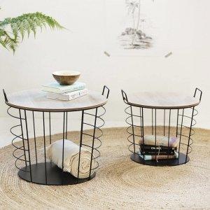 Bijzettafels Lennart - Set van 2 - Bruin