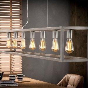Hanglamp Iseo - 7L Rechthoek - Bruin
