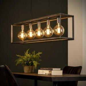 Hanglamp Malo - 5L - Grijs