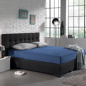 Jersey Hoeslaken - Home Care Blauw - 200 x 220