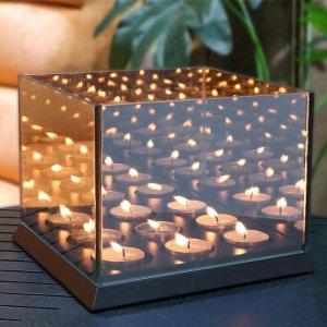 Candle Lights Mirror Glass XXL - Zwart