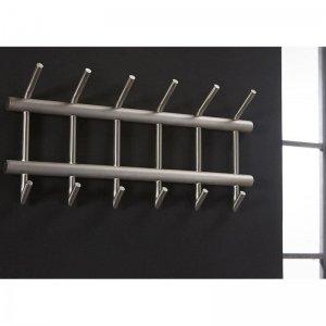 Kapstok Glendale - 2 x 6 Haaks - Breed - RVS - Zilver