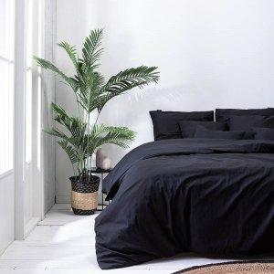 Plain Percale - Off Black - Zwart - 240 x 200